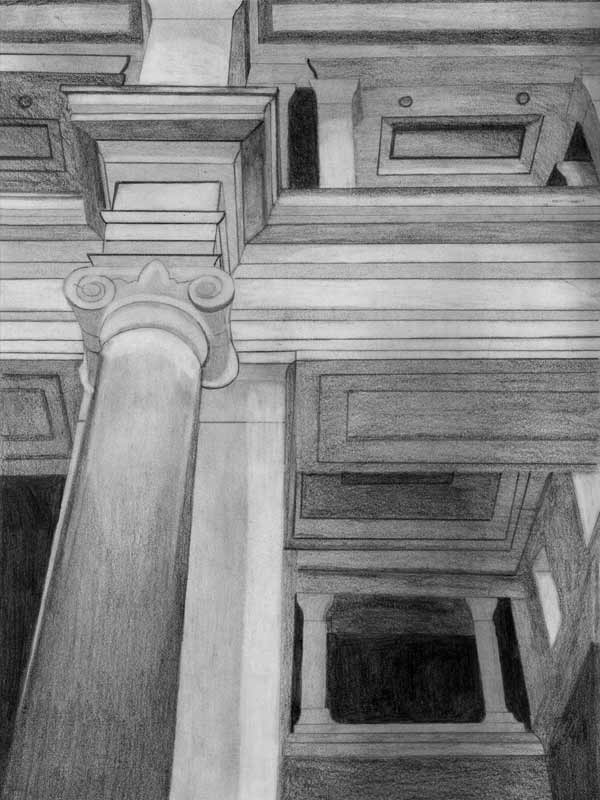 Law courts - perspective drawing